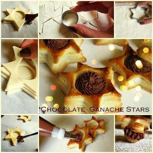 Chocolate ganache stars
