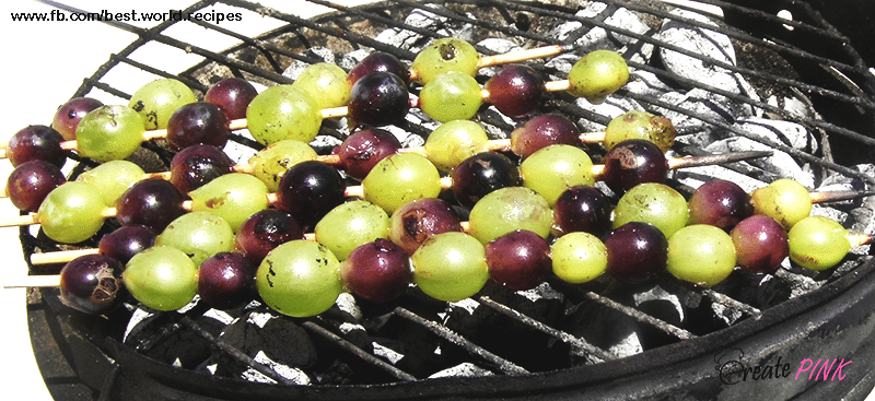 grapes on grill