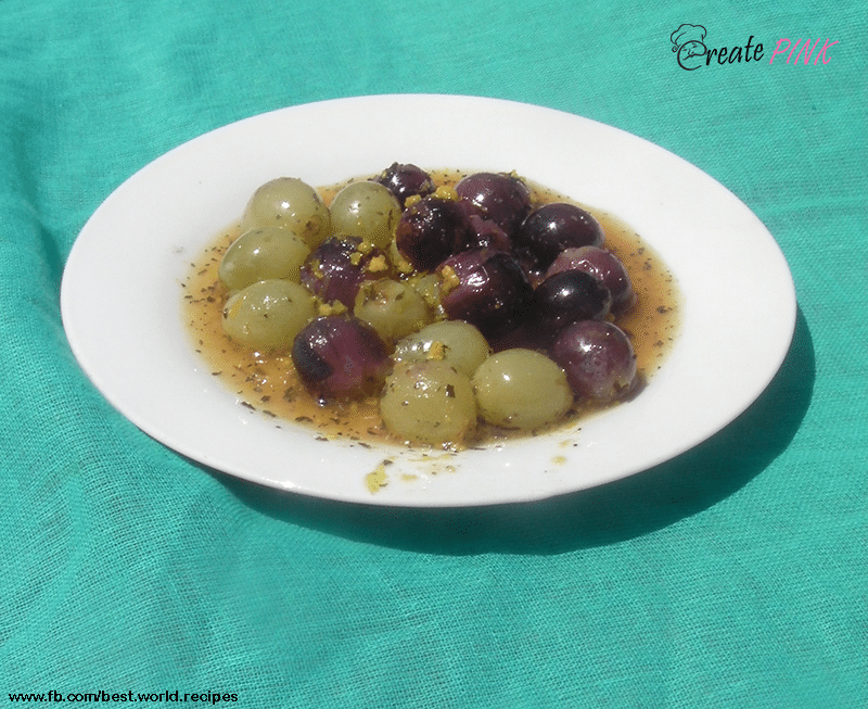 grilled grapes