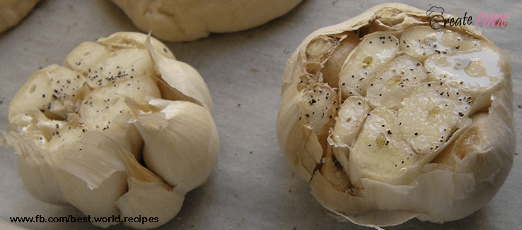roasted garlic with pepper
