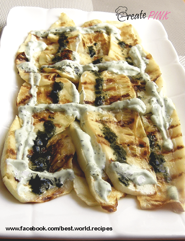 grilled zucchini with yogurt and mint