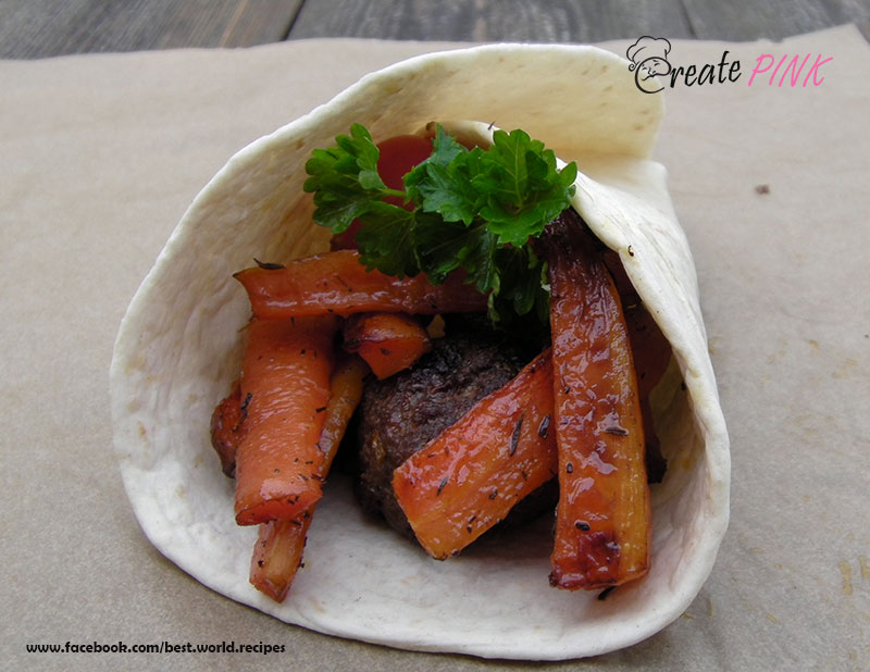 caramelized wrap with thyme