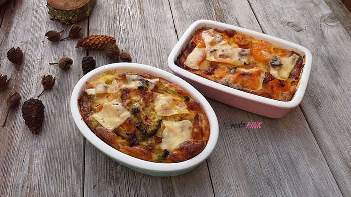 sweet potato and broccoli gratin