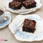 Easy fudgy homemade mocha brownie
