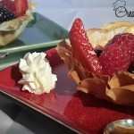 Vegan filo pastry and fruit tarts