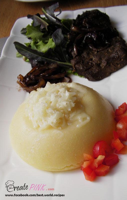 veal liver with polenta