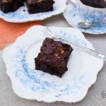 Easy fudgy homemade mocha brownie